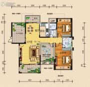 柏林国际3室2厅2卫122平方米户型图