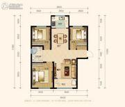 兰田传奇3室2厅1卫107平方米户型图