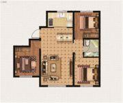 绿地中央广场3室2厅1卫0平方米户型图