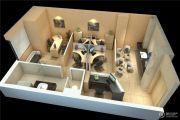 远洋国际中心1室1厅1卫65平方米户型图