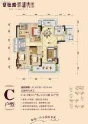 碧桂园・翠湖湾(星运山水城邦花园)4室2厅2卫127平方米户型图