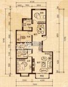 恒嘉・雅苑3室2厅2卫110平方米户型图