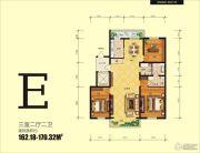 冠城国际3室2厅2卫163--170平方米户型图