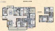 信达金茂广场4室2厅3卫169平方米户型图