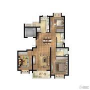 招商中环华府3室2厅2卫0平方米户型图
