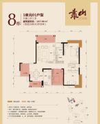 公园豪宅・靠山3室2厅2卫147平方米户型图
