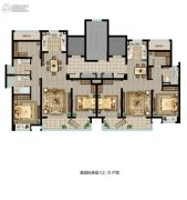 招商雍雅苑3室2厅2卫96--116平方米户型图