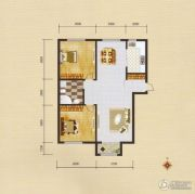 蓝远名城2室2厅1卫96平方米户型图