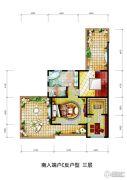 潮白河孔雀城伯顿庄园0室0厅0卫0平方米户型图