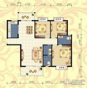 城市绿岛3室2厅2卫136平方米户型图