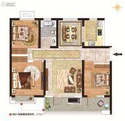 力高阳光海岸3室2厅1卫104平方米户型图
