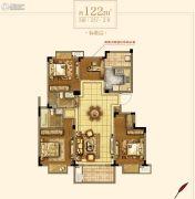 无锡孔雀城3室2厅2卫122平方米户型图