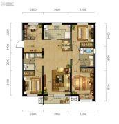 万科城市阳光4室2厅2卫130平方米户型图