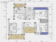 北城天街3室2厅1卫93平方米户型图