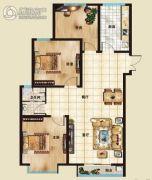 海山广场3室2厅1卫117平方米户型图