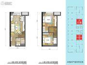 普陀龙湾3室2厅2卫77平方米户型图