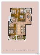 世茂上游墅3室1厅1卫120平方米户型图