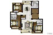 地产尚海郦景3室2厅2卫138平方米户型图