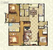 福临广场4室2厅3卫298平方米户型图