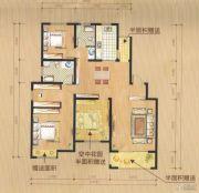 尚城华府3室2厅2卫122平方米户型图