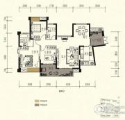 中锴・华章3室2厅2卫125平方米户型图