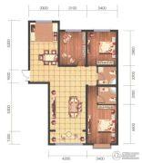 祥泰广场3室2厅2卫132平方米户型图
