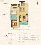 罗马中心城2室2厅1卫105平方米户型图