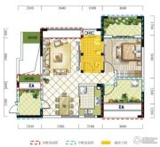 远达春天里2室2厅1卫75平方米户型图