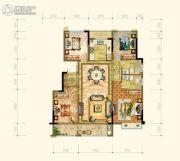 黄岩中梁香缇公馆4室2厅2卫129平方米户型图