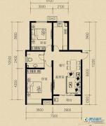 燕赵国际2室2厅1卫92平方米户型图