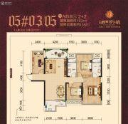 天健西班牙小镇4室2厅2卫103平方米户型图