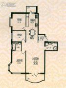 福宏名城3室1厅2卫98平方米户型图