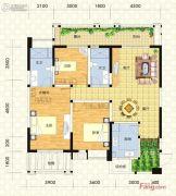 实地成都海棠名著3室2厅2卫122平方米户型图