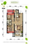 万科四季公园2室2厅1卫84平方米户型图