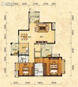 福庆花雨树3室2厅2卫108平方米户型图