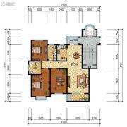 步阳江南甲第3室2厅2卫126平方米户型图