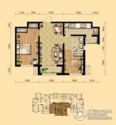 盛泽伯爵山2室2厅1卫88平方米户型图