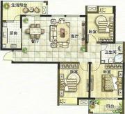 绿都万和城3室2厅1卫113平方米户型图
