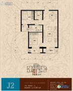 香邑溪谷2室2厅1卫82--85平方米户型图