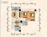 美尔雅・凤凰城2室2厅1卫83平方米户型图