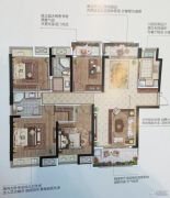 南京万达茂4室2厅2卫140平方米户型图