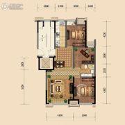 金地悦峰3室2厅1卫99平方米户型图