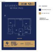 越秀星汇云锦3室2厅2卫116平方米户型图