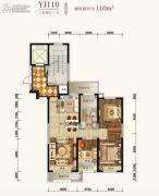 碧桂园凤凰城3室2厅1卫110平方米户型图