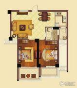 海洲新天地广场2室2厅1卫98平方米户型图