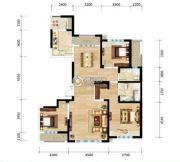 三江・尊园3室2厅2卫140平方米户型图