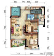 宜昌碧桂园2室2厅1卫79--81平方米户型图
