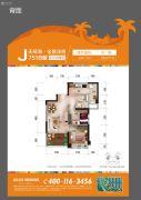 碧桂园珊瑚宫殿2室2厅1卫67平方米户型图