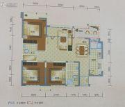中铁丽景书香3室2厅2卫88平方米户型图