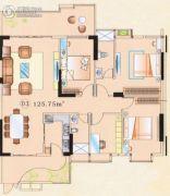 大唐盛世3室2厅2卫80--150平方米户型图